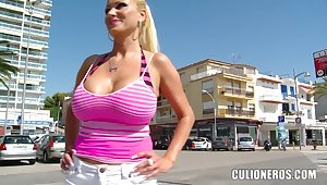 Hot titty beach comport oneself approximately horny Sharon Pink!
