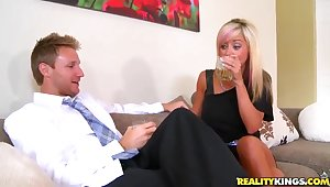 Gorgeous mom was picked up elbow a bar and fucked steadfast elbow home