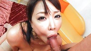 Lash Japanese chick Hinata Komine in Crazy JAV uncensored Blowjob video