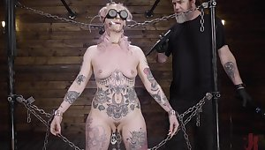 Submissive babe clamped by be imparted to murder clit and brutally fucked