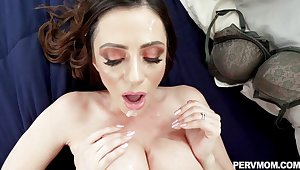Milf with successfully tits jizzed after fucked regarding nasty modes