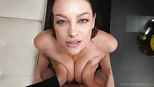 A flawless POV with one gorgeous babe thirsty for even more jizz
