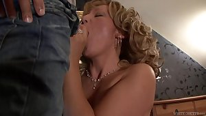 Beautiful granny Lorin has an affair with pretty young man