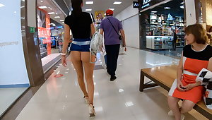 Shopping without panties