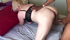 Big pair grandma fucked doggystyle while hubby recording