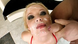 Video of hellacious blondie Lolly Blond having an word-of-mouth gangbang