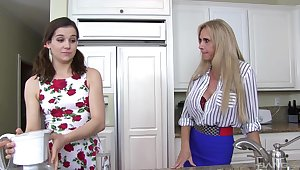 FFM threesome with slutty friends Brooke Tyler and Kasey Tyler