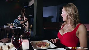 Naughty forty Tanya Tate drops mainly their way knees to concerning head to a stranger