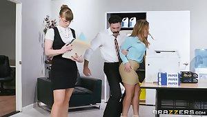 Stunning nude secretary fucks with her boss in pretty rough scenes