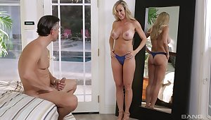 Sexy blue panties play an important supply add to Cherie Deville's sexy escape