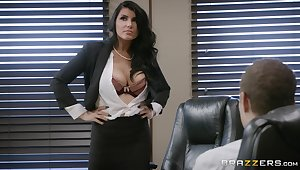 Check out surprising MILF Romi Rain's surprising office banging