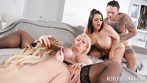 Awesome manipulate fuck with Alix Lovell, Alura Jenson and Kiki Dare