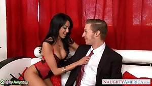 Yuppy nymphos share one strong cock for fantastic pussy ride herd on