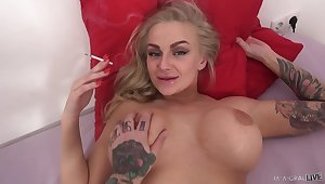 Quickie shagging on the purfle more busty blonde chick Kayla Callow
