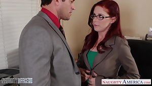 Career widely applicable Penny Pax is making love with one of the brush co-workers