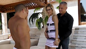 MMF threesome with horny MILF and her neighbors - Cherry Kiss